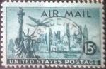 Stamps America - United States -  Scott#C35 , intercambio 0,20 usd , 15 cents. , 1947