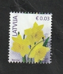 Stamps : Europe : Latvia :  945 - Narcisos