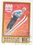 Sellos de Asia - Mongolia -  OLIMPIADA INNSBRUCK'76