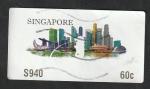 Stamps : Asia : Singapore :  Vista de la ciudad