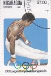 sello : America : Nicaragua : OLIMPIADA DE LOS ANGELES'84