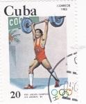 Stamps Cuba -  OLIMPIADA DE LOS ANGELES'84