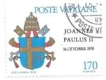 Sellos de Europa - Vaticano -  escudo Juan Pablo II