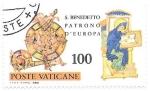 Sellos de Europa - Vaticano -  San Benedicto