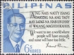 Stamps : Asia : Philippines :  Scptt#878 , nf4b intercambio 0,20 usd , 6 cents. , 1963