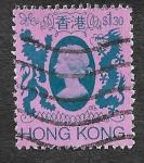 Stamps Hong Kong -  398 - Isabel II