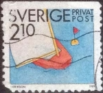 Stamps Europe - Sweden -  Scott#1739 , intercambio 0325 usd , 2,10 krona , 1989