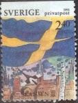 Stamps : Europe : Sweden :  Scott#1884 , intercambio 0,25 usd , 2,40 krona , 1991