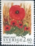Stamps : Europe : Sweden :  Scott#2014 , intercambio 0,35 usd , 2,60 krona , 1993