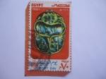 Sellos del Mundo : Africa : Egipto : Día del Sello - Emblema del Escarabajo, Mariquita - Arqueología