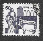 Sellos del Mundo : Asia : India : 914 - Industria Láctea