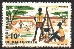 Stamps Africa - Burkina Faso -  BOY  SCOUTS  EN  CAMPAMENTO