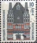 Stamps Germany -  Scott#1838 , intercambo 0,20 usd. , 10 cents. , 2000