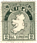 Stamps Ireland -  mapa