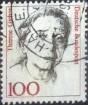 Stamps Germany -  Scott#1484 , intercambio 0,25 usd. , 100 cents. , 1988