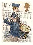 Stamps United Kingdom -  75 aniv. del scultismo y 125 aniv, del nacimiento de Robert Baden-Powell fundador de los Boy Scouts.
