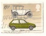 Sellos de Europa - Reino Unido -  Coches. Austin sseven 1922 y MG Metro