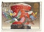 Sellos de Europa - Reino Unido -  Navidad 1983. Pajaros con cartas y buzon de correos.