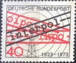 Stamps Germany -  Scott#1103 , intercambio 0,20 usd. , 40 cents. , 1973