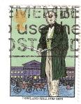 Sellos de Europa - Reino Unido -  Sir Rowland Hill (1795-1879), creador del sello postal
