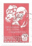 Stamps Europe - Russia -  Marx y Lenin
