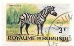 Stamps Burundi -  cebra