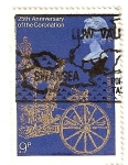 Stamps United Kingdom -  25 aniversario de la coronacion de Isabel II.