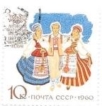 Sellos de Europa - Rusia -  trajes regionales