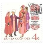sello : Europa : Rusia : trajes regionales