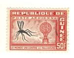 Sellos de Africa - Guinea -  El mundo unido contra el paludismo