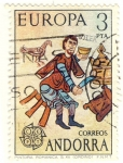 Stamps of the world : Andorra :  Pintura Romanica S XII (Ordino)