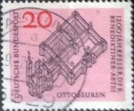 de Europa - Alemania -  Scott#880 , intercambio 0,20  usd. , 20 cents. , 1964