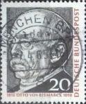 Sellos de Europa - Alemania -  Scott#918 , intercambio 0,20  usd. , 20 cents. , 1965
