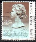 Stamps Hong Kong -  REINA  ELIZABETH  II