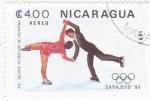 Sellos del Mundo : America : Nicaragua :  OLIMPIADA SARAJEVO´84