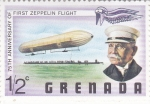 Stamps : America : Grenada :  75 ANIVERSARIO DEL 1er VUELO ZEPPELIN