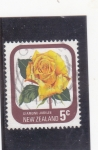 Stamps : Oceania : New_Zealand :  ROSA AMARILLA