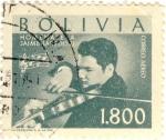 Sellos del Mundo : America : Bolivia : Homenaje a Jaime Laredo
