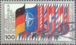 Sellos del Mundo : Europa : Alemania : Scott#1322 , intercambio 0,60 usd. , 100 cents. , 1980