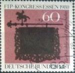 Sellos del Mundo : Europa : Alemania : Scott#B581 , intercambio 0,65 usd. , 60+30 cents. , 1980