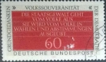 Stamps Germany -  Scott#1360 , intercambio 0,20 usd. , 60 cents. , 1981