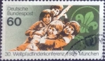 Stamps Germany -  Scott#1446 , intercambio 0,30 usd. , 60 cents. , 1985
