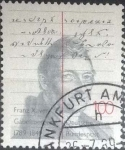 de Europa - Alemania -  Scott#1579 , intercambio 0,50 usd. , 100 cents. , 1989