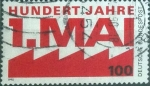 Stamps Germany -  Scott#1599 , intercambio 0,45 usd. , 100 cents. , 1990