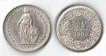 monedas de Europa - Suiza -  1/2 Franco suizo