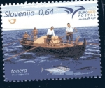 Stamps : Europe : Slovenia :  Productos del mar