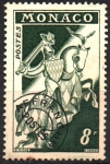 Sellos de Europa - Mónaco -  CABALLERO  CON  ARMADURA.  Scott 322.