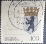 Stamps Germany -  Scott#1701 , hbr intercambio 0,55 usd. , 100 cents. , 1992