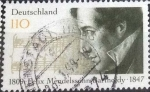 Stamps Germany -  Scott#1980 , intercambio 0,70 usd. , 110 cents. , 1997