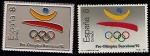 Stamps Europe - Spain -  Pre Olimpica Barcelona 92 - Logotipo - Sello y Pin conmemorativo